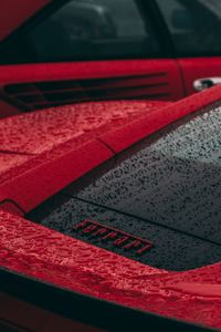 480x854 Rain Drops On Ferrari