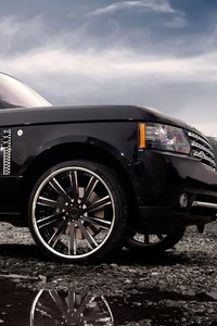 240x320 Range Rover Tuned Wheels Black
