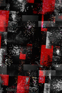 Red Abstract Graphics Colors 4k