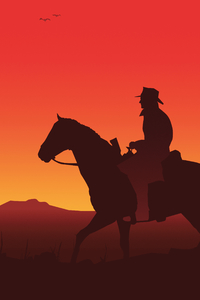 1280x2120 Red Dead Redemption 2 Illustration 5k