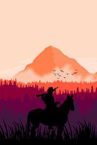 1280x2120 Red Dead Redemption 2 MInimal Art 4k