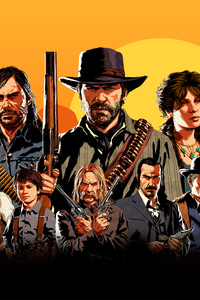 320x480 Red Dead Redemption 2 Video Game 4k