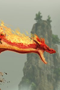 Red Fire Dragon Creature Fantasy Monster 5k