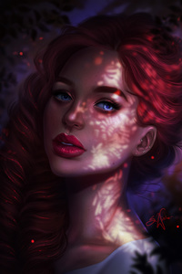 540x960 Red Head Girl Portrait Face Closeup