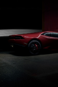 1440x2560 Red Lamborghini Huracan Rear 4k