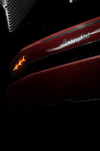 1440x2560 Red Lamborghini Huracan Rear Lights 4k