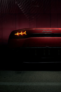 1440x2560 Red Lamborghini Huracan Rear Lights