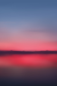 1080x2280 Red Sunset Blur Minimalist 5k