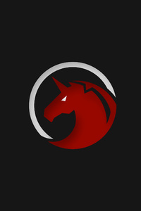 2160x3840 Red Unicorn Logo 4k