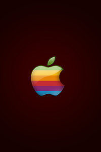 1080x1920 Retro Apple Logo