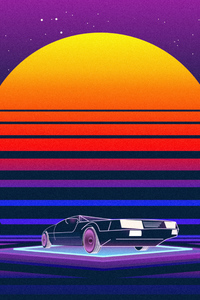 1080x2160 Retrowave Car 5k