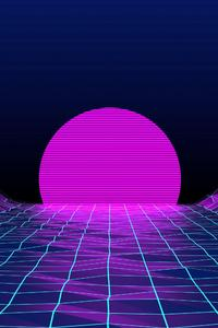 800x1280 Retrowave Sunrise