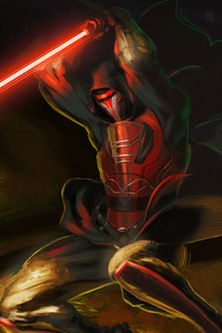 720x1280 Revan With Lightsaber Star Wars