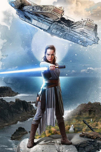 Rey Star Wars The Last Jedi Artwork