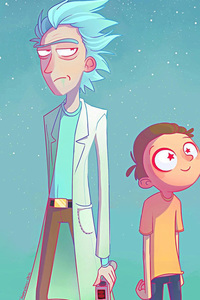1125x2436 Rick And Morty Artwork