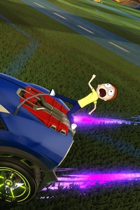 640x960 Rick And Morty Head To The Rocket League