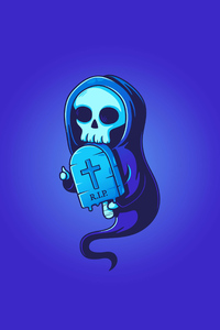 Rip Skull Illustration