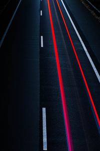 1125x2436 Road Light Trail Long Exposure