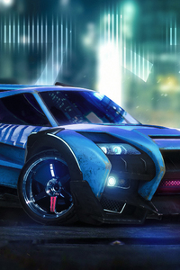 320x480 Rocket League Car Artwork