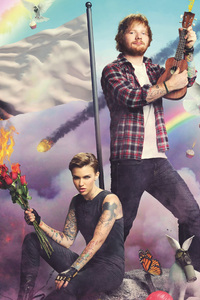 640x1136 Ruby Rose And Ed Sheeran