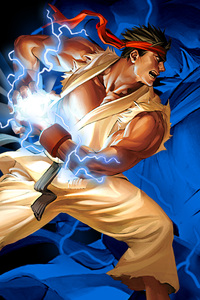 800x1280 Ryu Hadouken Street Fighter 2