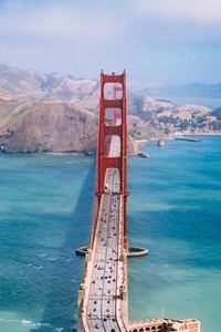 320x568 San Francisco Bridge Aerial View 5k
