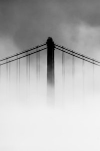 360x640 San Francisco Oakland Bay Bridge Covered With Fog