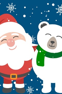 360x640 Santa Clause And Bear Friend