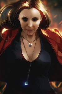 320x568 Scarlet Witch Artwork