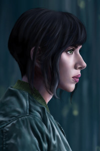 Scarlett Johansson Artwork Ghost In The Shell