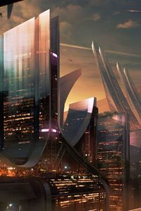 800x1280 Science Fiction City Hd