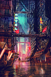 1125x2436 Science Fiction Cyberpunk Futuristic City Digital Art 4k
