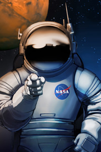 1080x2280 Scifi Astronaut Space Man