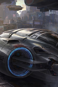 480x854 Scifi Vehicle Science Fiction Concept Art 5k