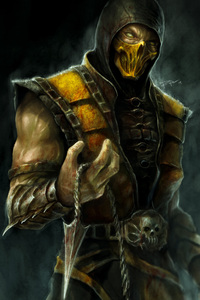 320x568 Scorpion Mortal Kombat X 4k Artwork