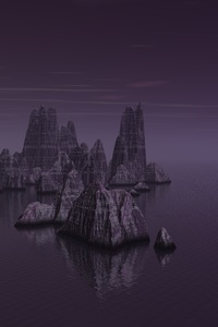 Sea Rocks Dark Purple Tone