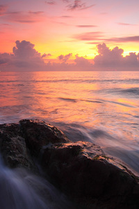540x960 Seascape Sunset Water Rocks Ocean