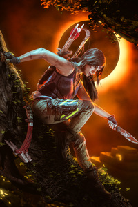 640x1136 Shadow Of The Tomb Raider Cosplay 5k