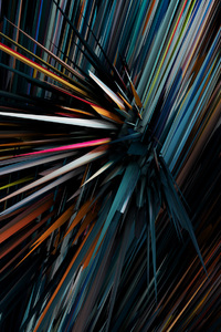 480x854 Sharp 3d Comet Digital Art Abstract
