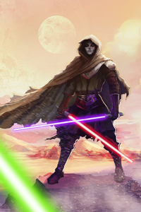 1242x2688 Sith Lord Star Wars