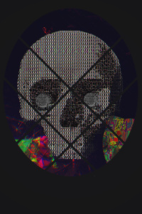 480x854 Skull Abstract Art 4k