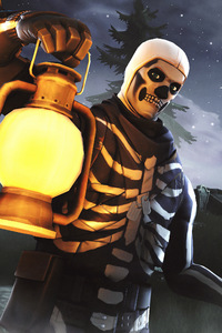 1080x2280 Skull Trooper Fortnite Season 6 4K