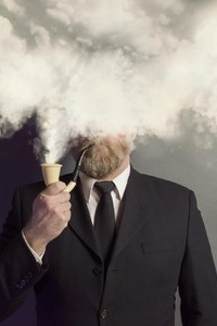 750x1334 Smoking Beard Man