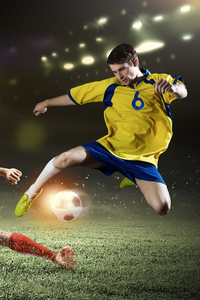750x1334 Soccer Players Football 4k