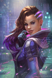 320x480 Sombra Overwatch Fan Art