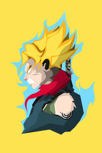 1125x2436 Son Goku Dragon Ball Super 4k Minimalism