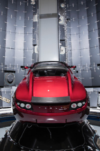 Space X Tesla Roadster Waiting For Space