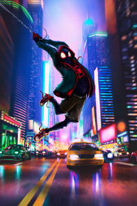 1125x2436 Spider Man In Spider Verse