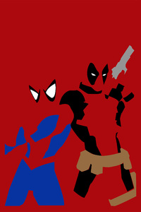 2160x3840 Spiderman And Deadpool Minimalism
