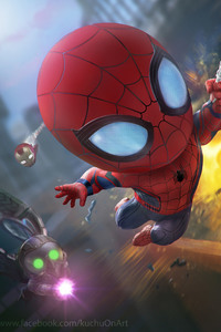 Spiderman And Iron Man Artwork HD